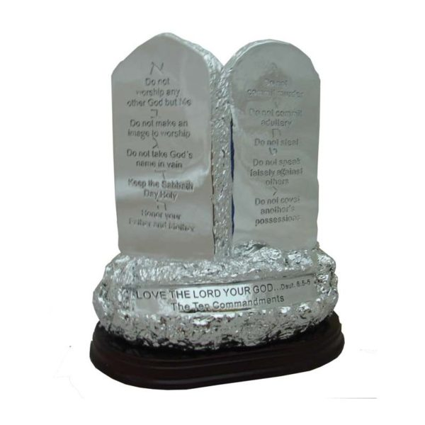 Polyresin 10 Commandments Black or Silver Letters RL01010125