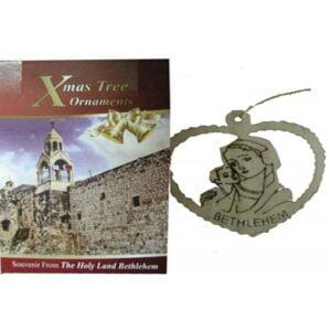 Olive Wood Laser Ornament-Virgin &Child OWO01