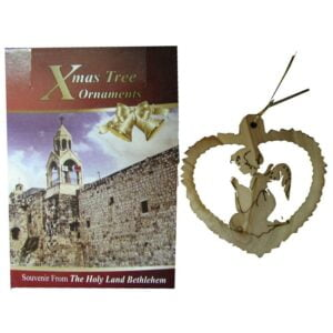 Olive Wood Laser Ornament-Angel OWO02