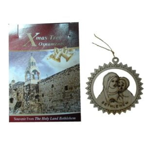 Olive Wood Laser Ornament Virgin & Child OWO04