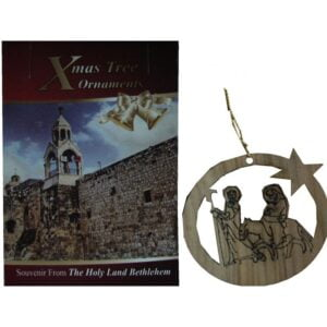 Olive Wood Laser Ornament-Flight To Egypt-OWO06