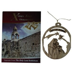 Olive Wood Laser Ornament-Mary & Child OWO12