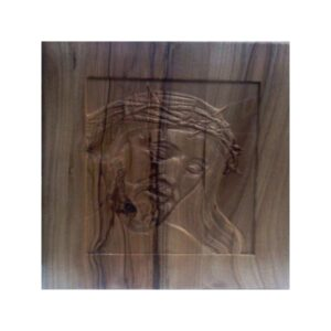 Embossed Jesus Face on Wooden Art Frame
