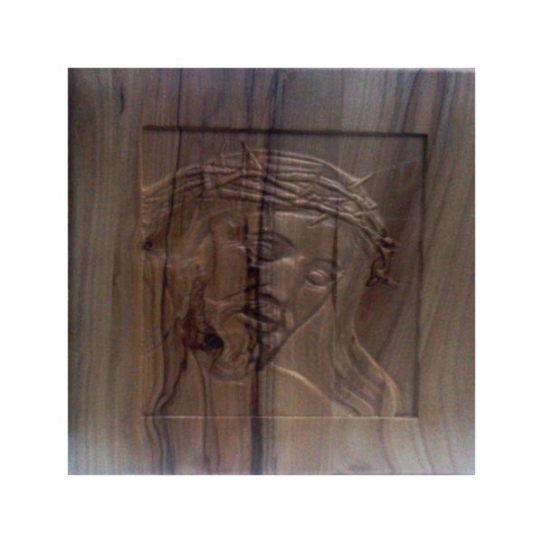 Embossed Jesus Face on Wooden Art Frame