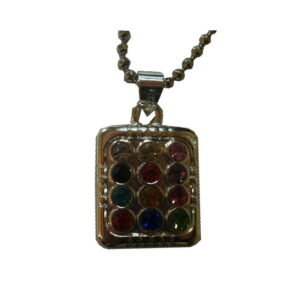 12 Tribes Stone Pendent Silver Plated With Chain