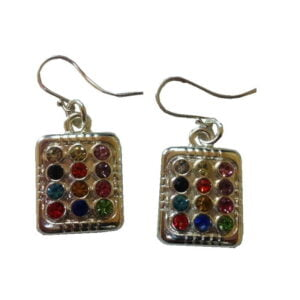 12 Tribes Stone Earring – Silver Plated