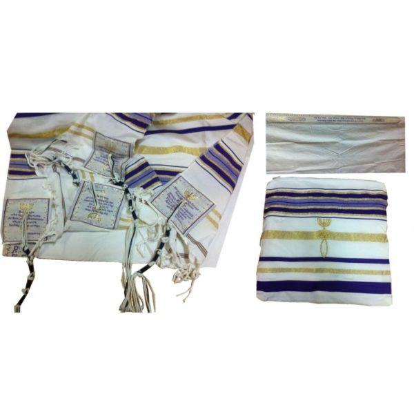 Purple Prayer Shawl Messianic Christian Sign Tallit 72*22