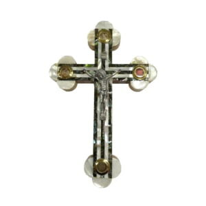 Mother Of Pearl Olive Wood Byzantine Cross