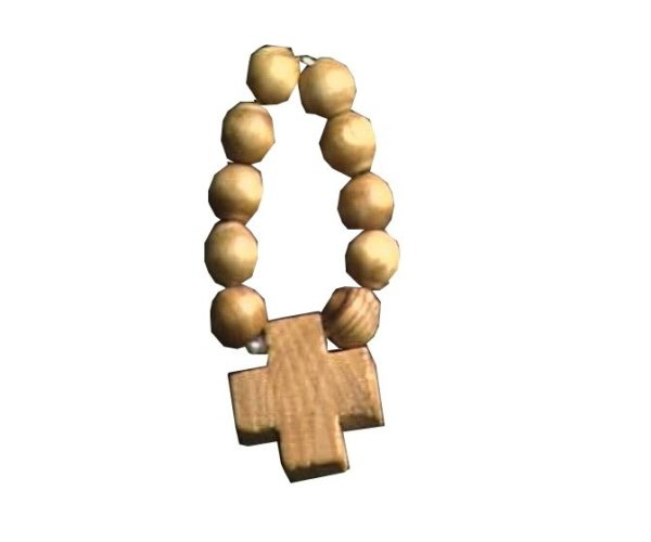 Olive Wood Rosary Round Finger