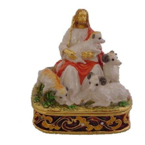 Jesus and the Lost Sheep Enamel Box