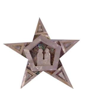 Star Of Bethlehem Mother Of Pearl Holy Family Israel MOPSTAR01