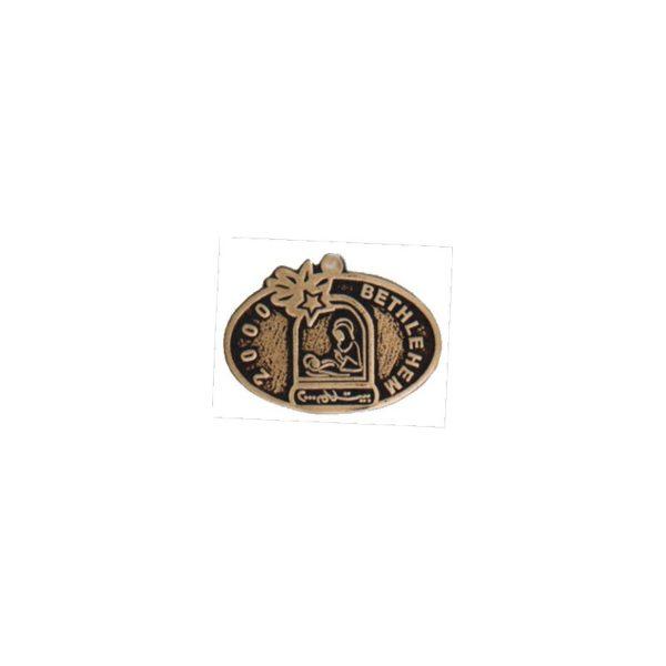 Bethlehem 2000 Logo Oval Brass Hanger BLHG000