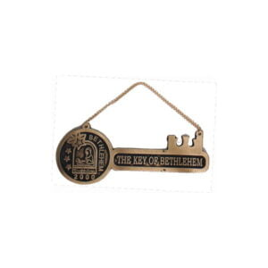 Bethlehem 2000 Logo Key of Bethlehem Brass Hanger BLHG11I