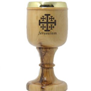 Olive Wood Communion Cups 8.2 Inches