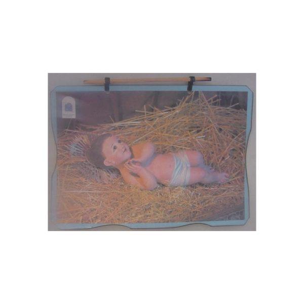 Bethlehem 2000 Logo Baby Jesus Wax Picture BLWP04