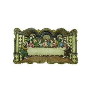 Last Supper 3 D For Wall Resin Hand Painted 37*21*4 RESLS01