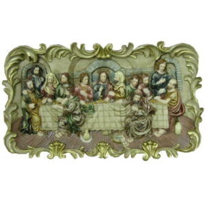 Last Supper 3 D For Wall Resin Hand Painted 27*15*3 RESLS03