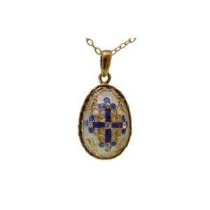 Jerusalem Cross(Byzantine) Faberge Style Enamel Gold Plated