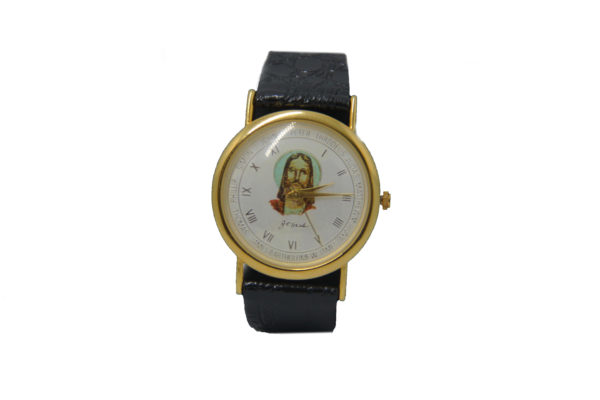 Gold Plated Hand Watch-Jesus Face