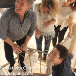 Matt Crouch - Joel Osteen and wives at Church of the Nativity