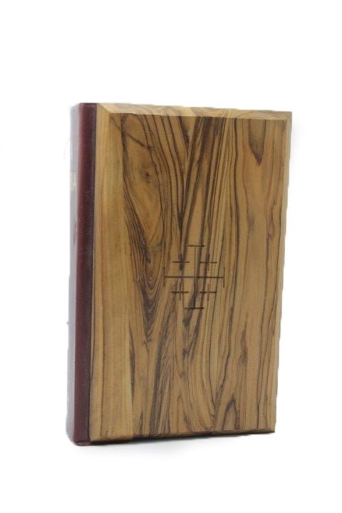 King James Bible – Olive Wood Hardcover (Italian)