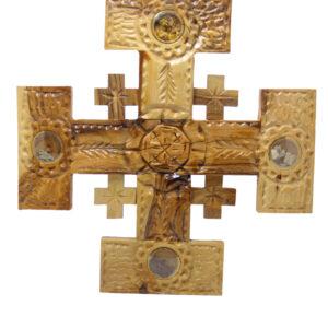 Olive Wood Jerusalem Cross