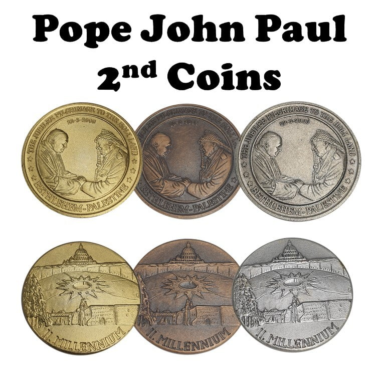 Pope John Paul 2nd- visit to The Holy Land Commemorative Meda.