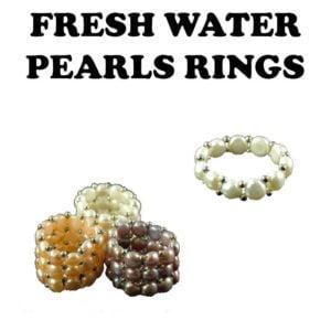 Fresh water Pearls Rings